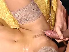 Babe doll gets creampie