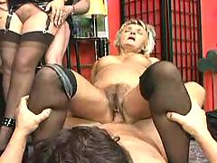 Old sluts in awesome orgy