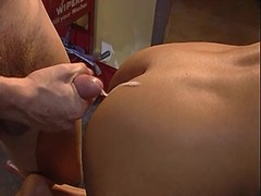 Beauty fucking w guy on filling station n gets cum