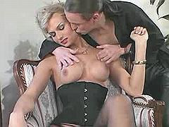 Passionate shemale fondles and sucks her lover