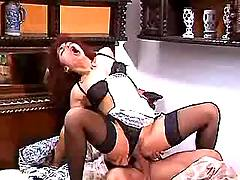 Lusty maid fucked by lord