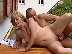 Sexy mom fucked on table
