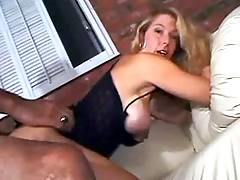 Cute milf gets facial