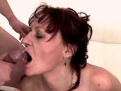 Aged mature fucking in hard orgy n getting facials