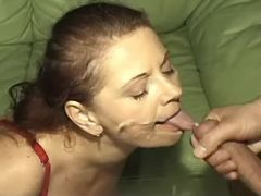 Plump granny deep fucks and gets cumload in mouth