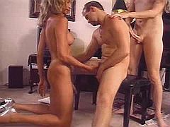 Group sex with hot shemale whores on jolly party