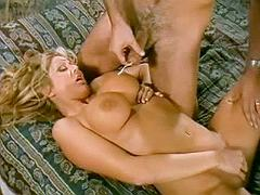 Blonde gets her killer tits creamed