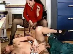 Man serves horny mature secretaries