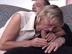 Blonde granny and milf suck dicks n fuck in group