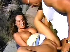 Macho hard drilling blazing mexican doll outdoors